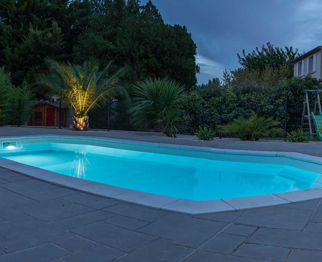 Eclairage de piscine